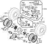 Passendes Ersatzteil: Räder hinten mit Bremse