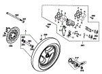 Passendes Ersatzteil: Vorderrad mit Bremssattel