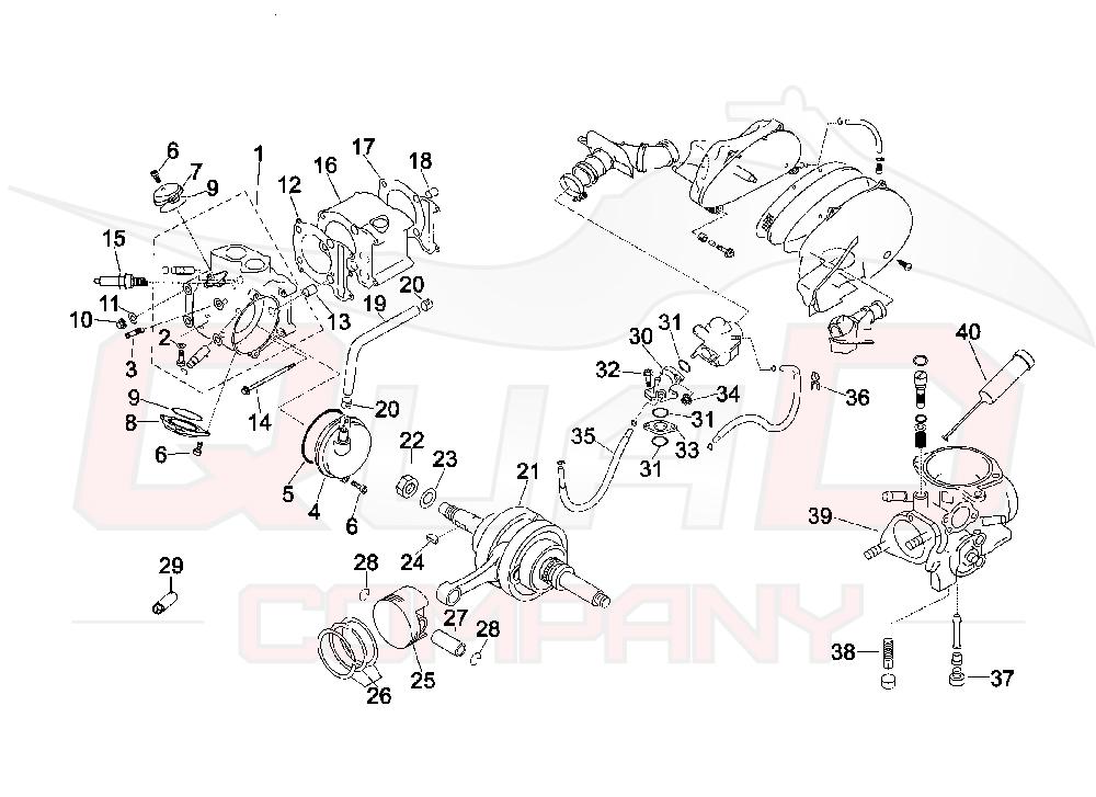 Zylinder Dichtungssatz 250ccm f/ür Yamaha Majesty 250 YP250 4T LC 96-99 4UC