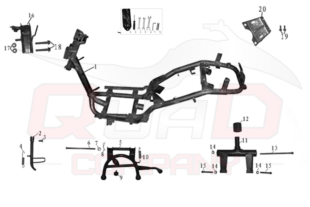 Motobi Siena 50 Rahmen Ersatzteile