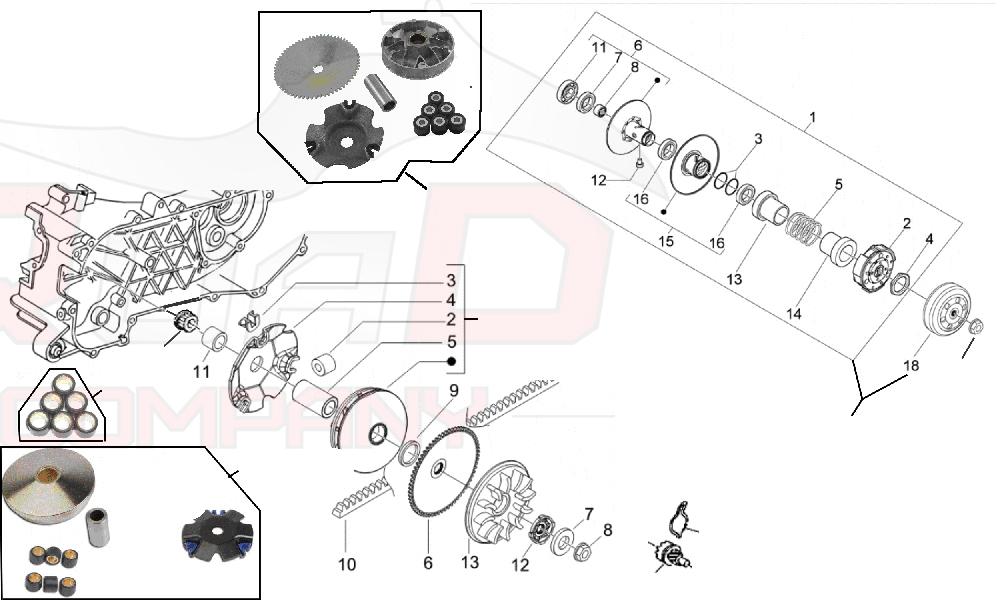 Wandler Kit mit Kupplungsglocke f/ür NRG 50 Power DT 07-09 ZAPC453