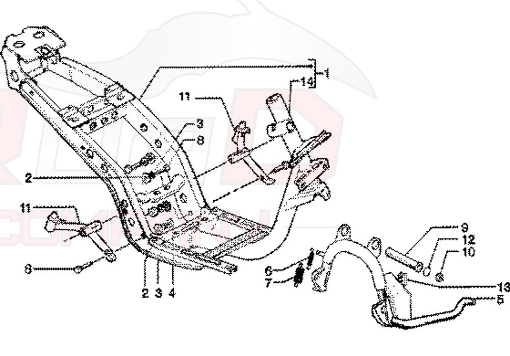 Piaggio Skipper 125 4-Takt (LEADER) Rahmen, Ständer Ersatzteile