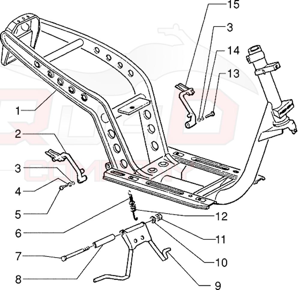 Piaggio SKR 125 2-Takt (1993-1997) Rahmen, Ständer Ersatzteile