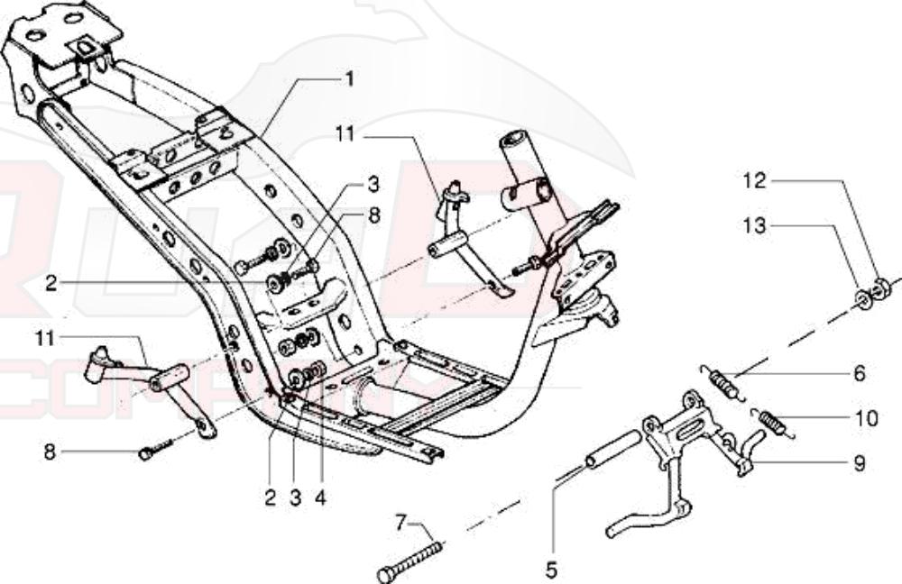Piaggio Skipper 125 2-Takt (SKR) Rahmen, Ständer Ersatzteile