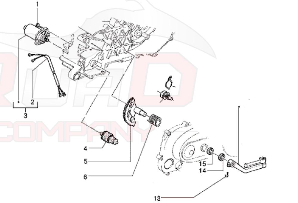 Anlasserfreilauf für Vespa ET2 50 C38 Vergaser 2004