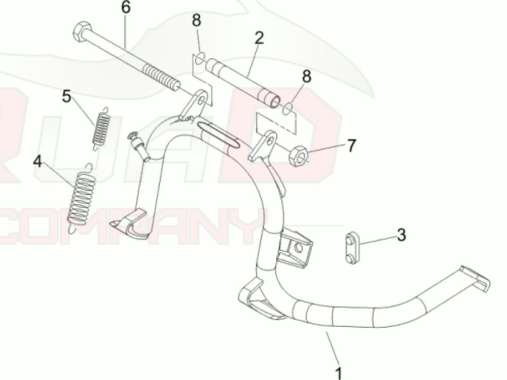 Hauptst/änder f/ür Zip 50 4T DT 06 LBMC25C