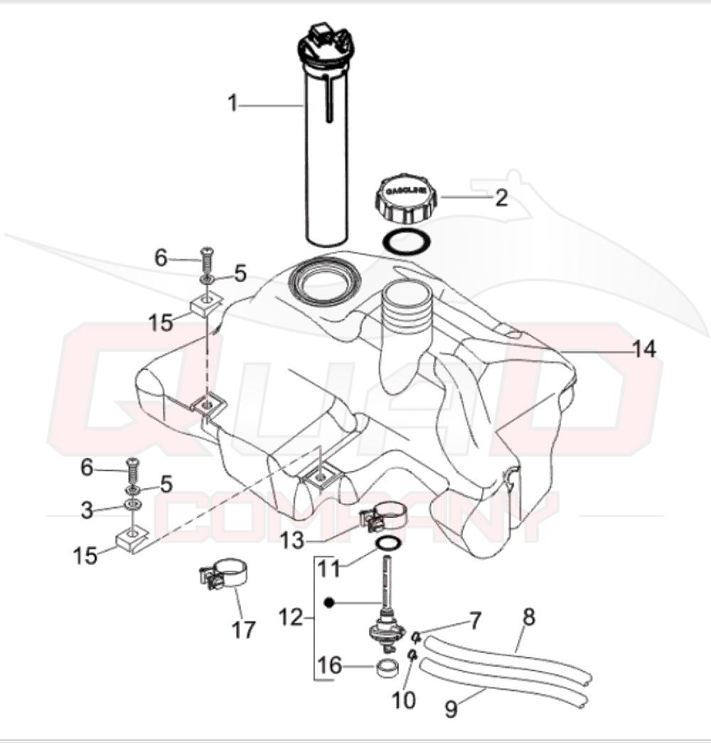 Benzinhahn Unterdruck f/ür Vespa LX 50 2T ZAPC381