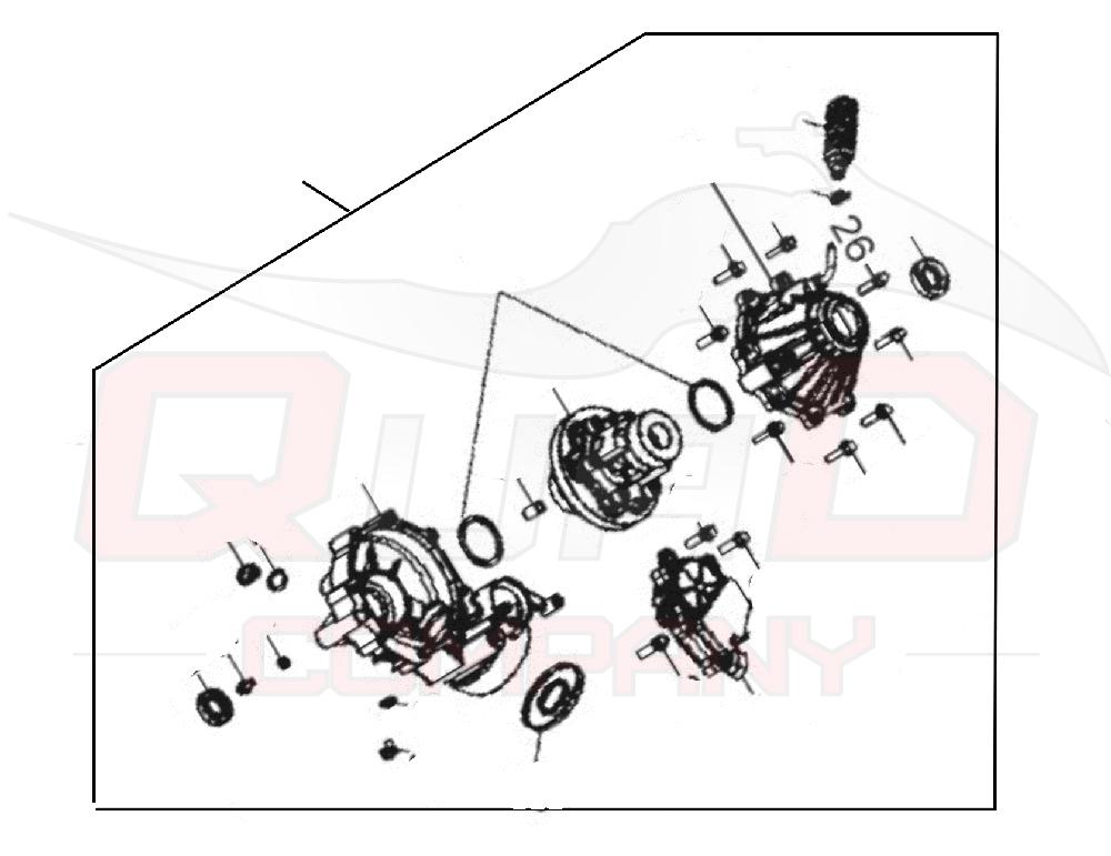 Aeon Cube 350 4WD Achsgetriebe vorne Ersatzteile