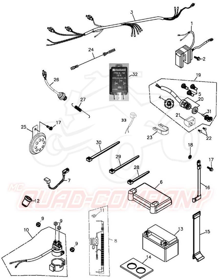 adly atv hurricane 500 s lof flat elektrik ersatzteile. Black Bedroom Furniture Sets. Home Design Ideas