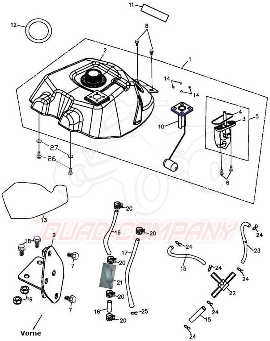 adly atv hurricane 500 s lof flat kraftstofftank ersatzteile. Black Bedroom Furniture Sets. Home Design Ideas