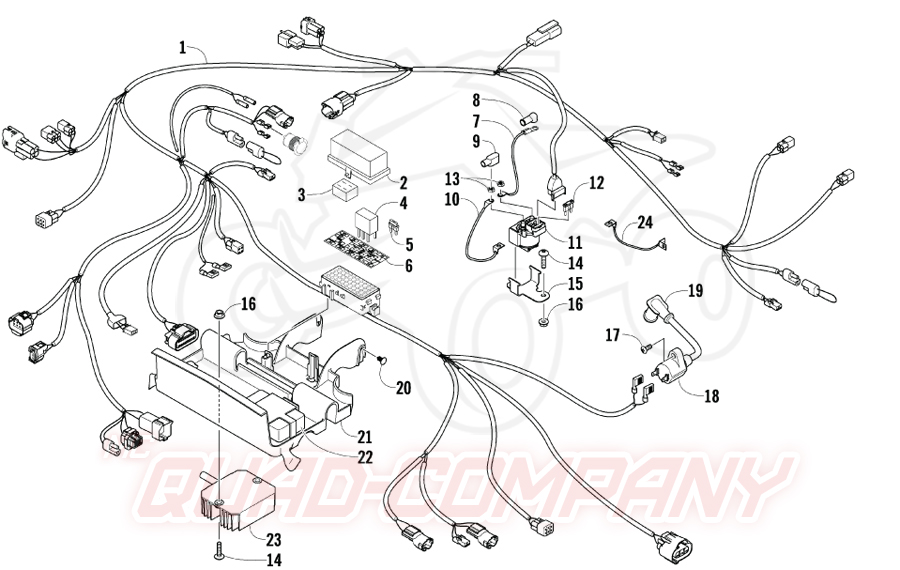 arctic cat atv 400 4x4 euro bj  08 kabelbaum ersatzteile
