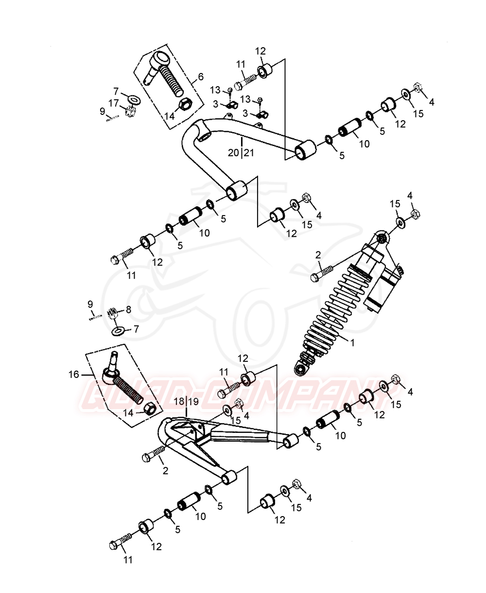 beeline bestia 5 5 offroad lof federbein vorne querlenker ersatzteile. Black Bedroom Furniture Sets. Home Design Ideas