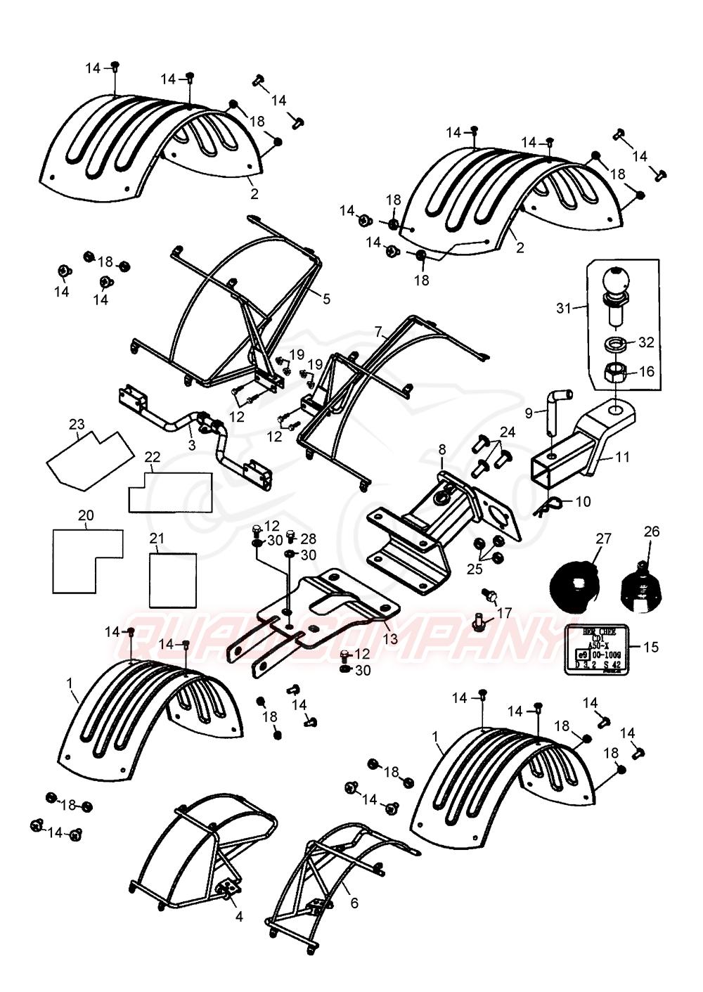 beeline bestia 5 5 offroad lof radabdeckung anh ngekupplung ersatzteile. Black Bedroom Furniture Sets. Home Design Ideas