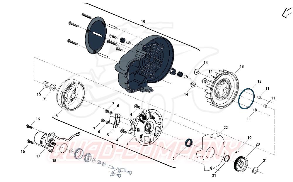Benelli X49 DD / naked Variomatik Kupplung Ersatzteile