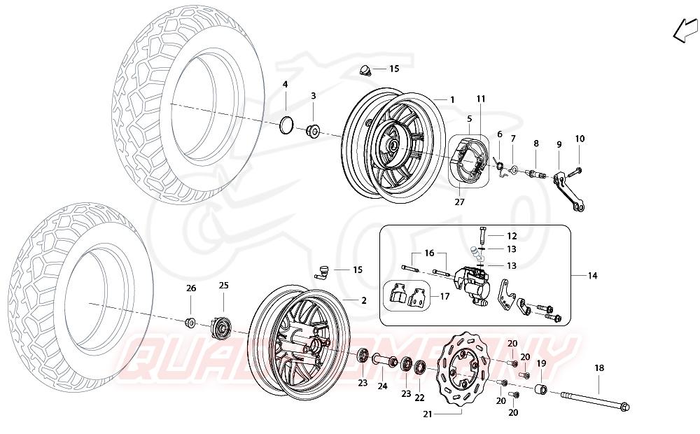 Benelli X49 DD / naked Bremsscheiben, Bremsbeläge