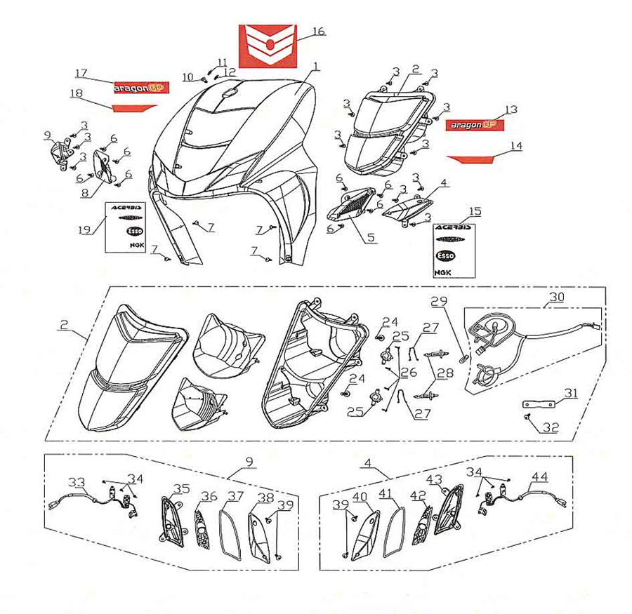 cpi aragon gp 50 frontverkleidung ersatzteile. Black Bedroom Furniture Sets. Home Design Ideas