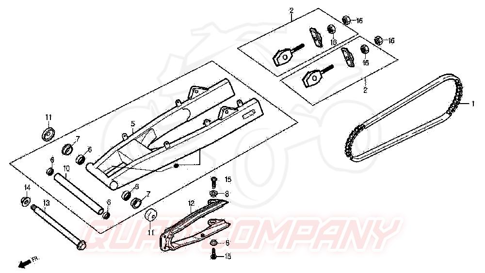 daelim roadwin 125 bj 04 05 schwinge kettenschutz ersatzteile. Black Bedroom Furniture Sets. Home Design Ideas