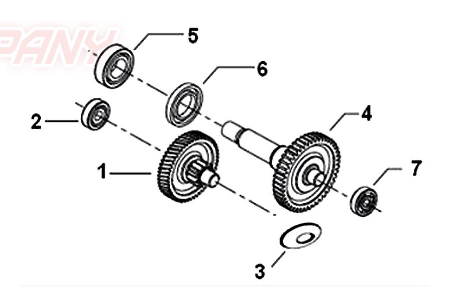 keeway ry8 50 getriebe ersatzteile