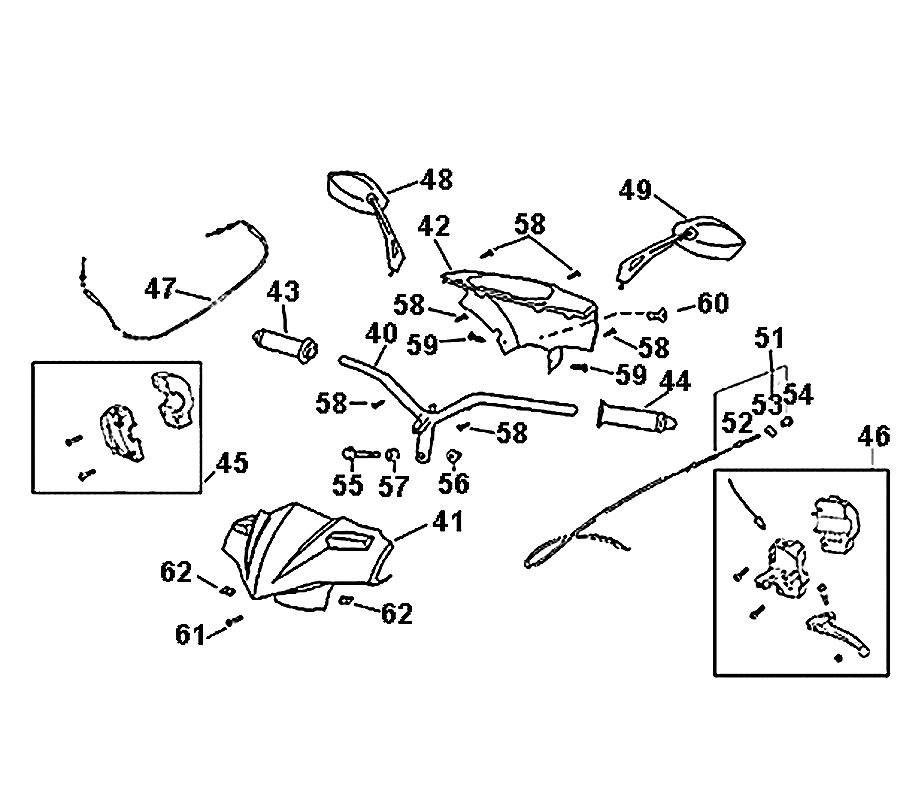 kreidler florett 2 0 50 lenker spiegel bedienelemente. Black Bedroom Furniture Sets. Home Design Ideas