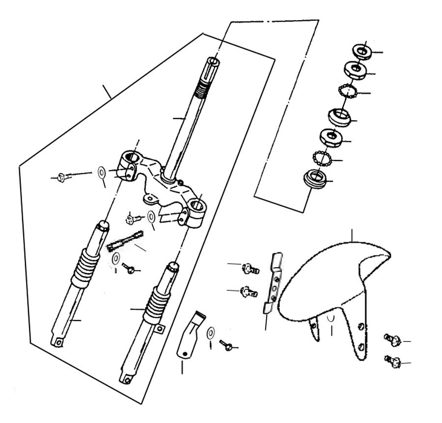 kreidler florett rmc 50e mod 06 08 vorderradgabel ersatzteile. Black Bedroom Furniture Sets. Home Design Ideas