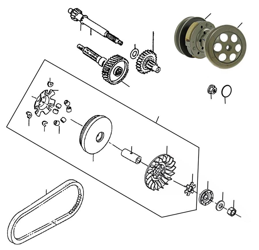 kreidler florett rs 50 dd kupplung variomatik ersatzteile. Black Bedroom Furniture Sets. Home Design Ideas