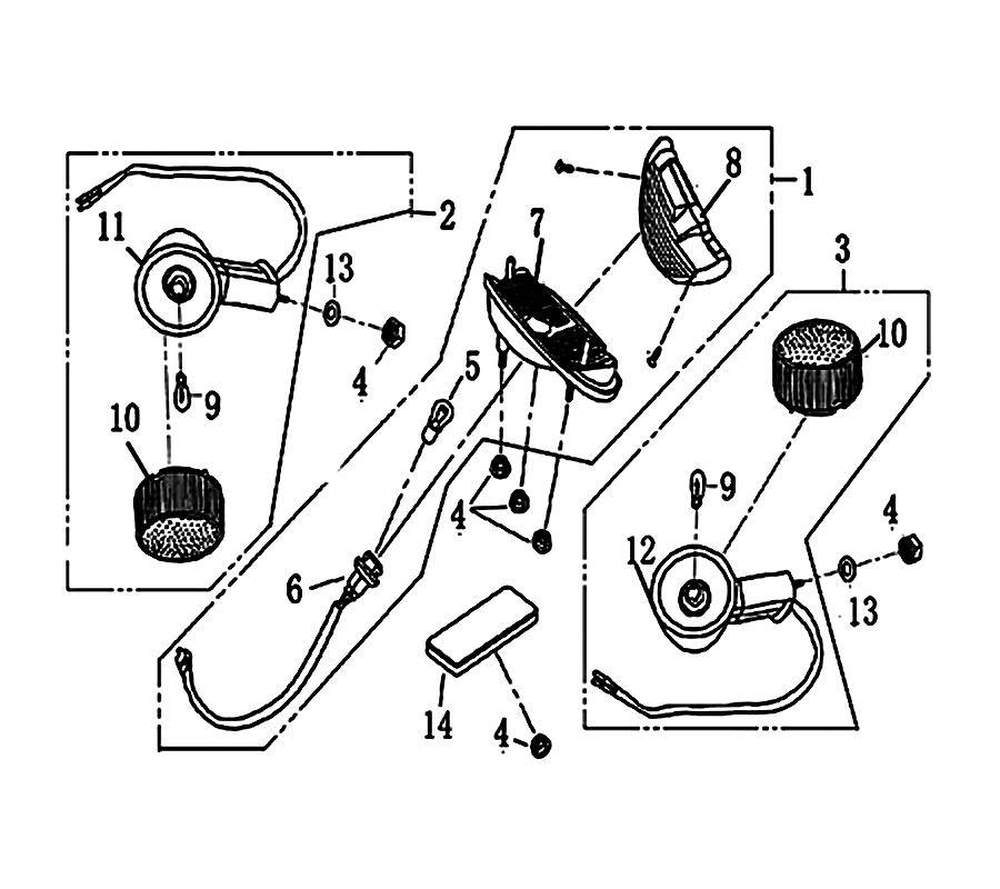 kreidler florett rs 50 dd r ckleuchte blinker ersatzteile. Black Bedroom Furniture Sets. Home Design Ideas
