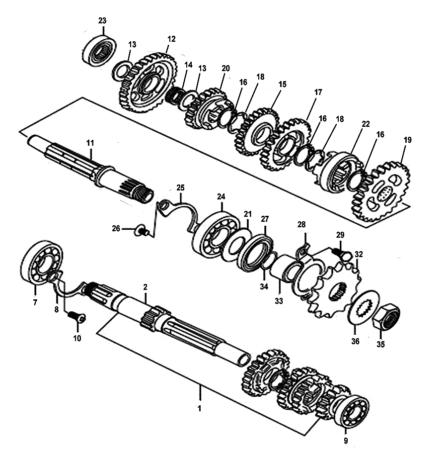 kreidler supermoto enduro 125 getriebe ersatzteile. Black Bedroom Furniture Sets. Home Design Ideas