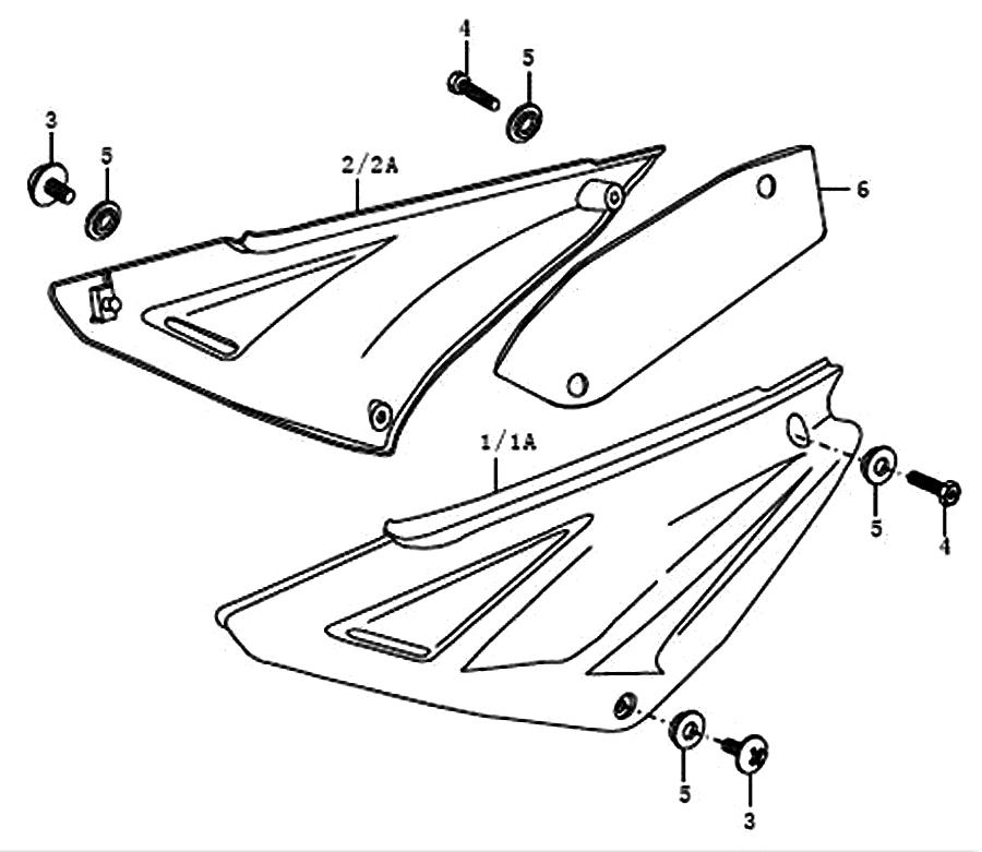 kreidler supermoto enduro 125 seitenverkleidung ersatzteile. Black Bedroom Furniture Sets. Home Design Ideas