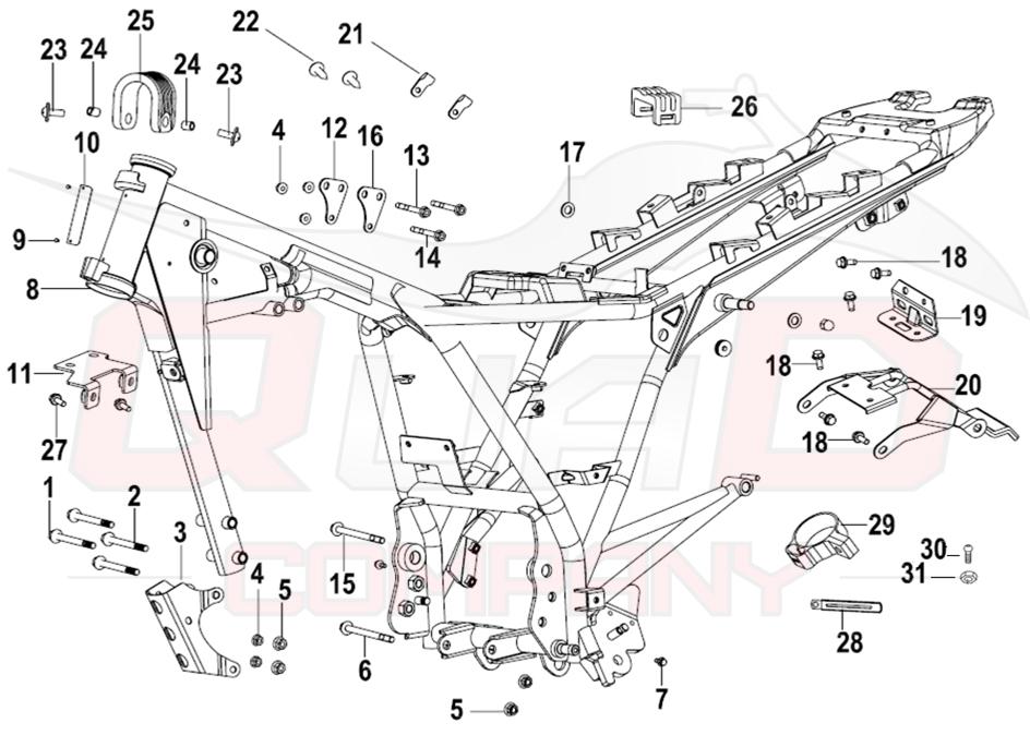 KSR Moto Code 125 Rahmen Ersatzteile
