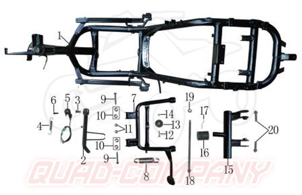 Rondelli Caprini 50 Rahmen Ständer Ersatzteile