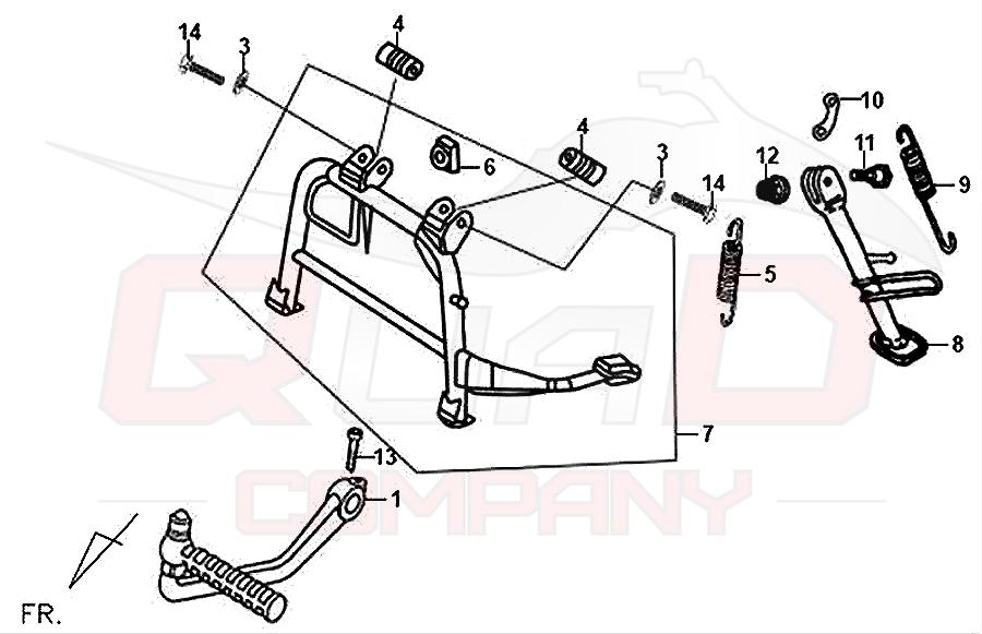 sym fiddle 2 125 aw12w t st nder kickstarter ersatzteile. Black Bedroom Furniture Sets. Home Design Ideas