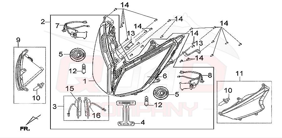 sym gts 300i lm30w1 6 scheinwerfer ersatzteile. Black Bedroom Furniture Sets. Home Design Ideas
