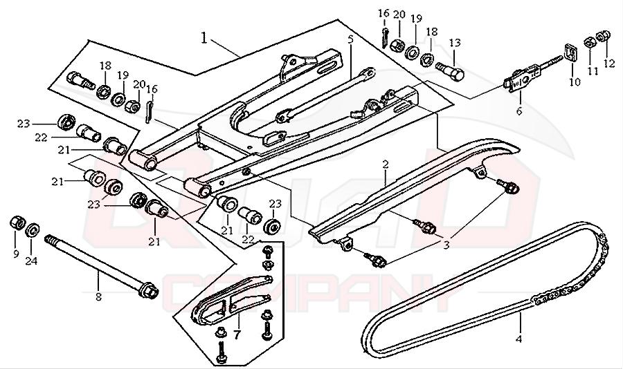 sym husky 125 n125a1 6 hinterradschwinge antriebskette. Black Bedroom Furniture Sets. Home Design Ideas