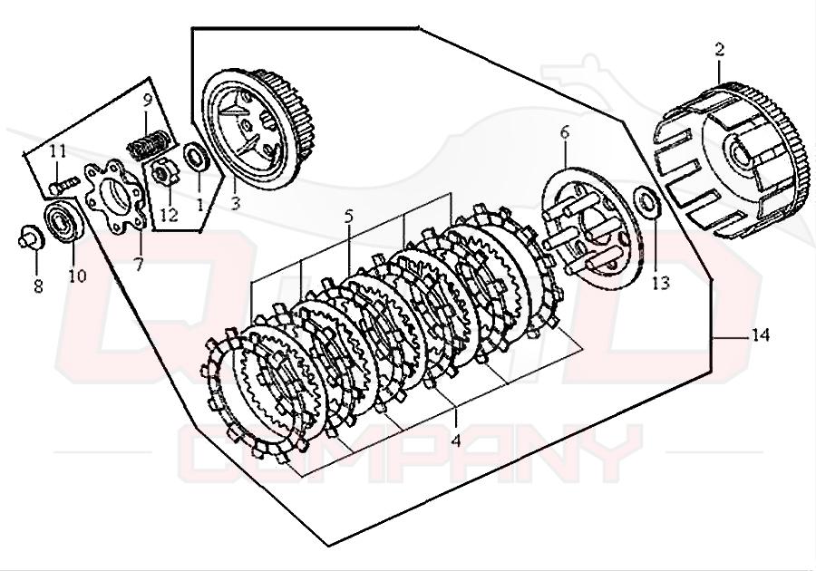 sym husky 125 n125a1 6 kupplung ersatzteile