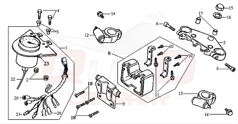 sym husky 125 n125a1 6 tachometer gabelbr cke ersatzteile. Black Bedroom Furniture Sets. Home Design Ideas
