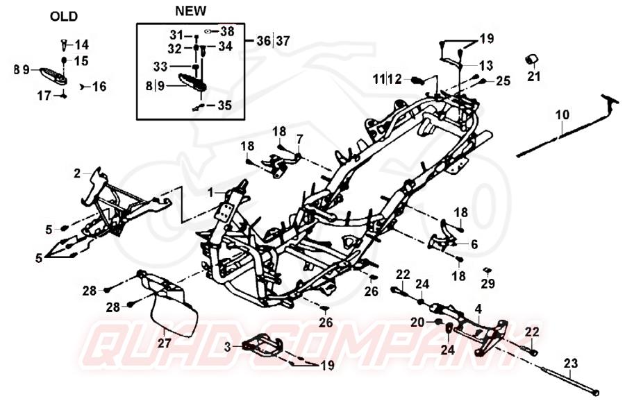 TGB X-Large 125 Rahmen Ersatzteile