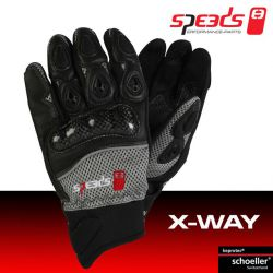 Handschuhe SPEEDS X-WAY, schwarz/grau, man